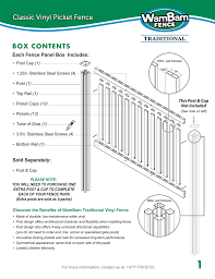 Wambam Fence Vf13003 Installation Guide Manualzz