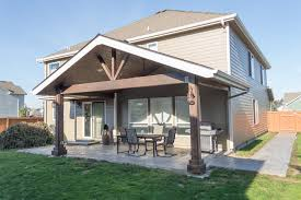 albany gable patio cover with small