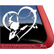 Jumping Border Collie Dog Love Heart Vinyl Adhesive Window Decal Walmart Com Walmart Com