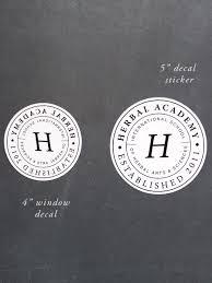 Herbal Academy Crest Window Decal 4 Silk Screen