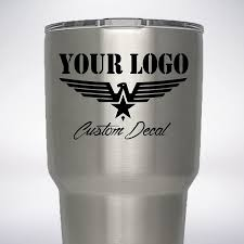 Amazon Com Completely Custom Decal For Yeti Tumbler 20oz Or 30oz You Send Us Your Picture Design Logo Company Name Handmade