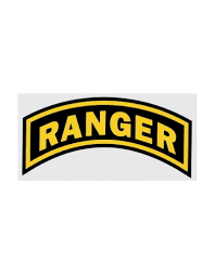 Army Ranger Tab Decal 6 Wide X 3 High Midtown Military