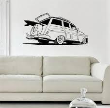 Woody Surf Car Old School Car Design Decal Sticker Wall Vinyl Decor Ar Boop Decals