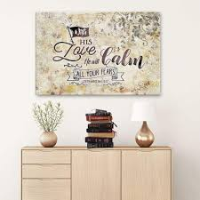 Christian Wall Art Zephaniah 3 17 With His Love He Will Calm All Your Fears Canvas Christ Follower Life