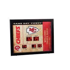 Kansas City Chiefs Bluetooth Scoreboard Wall Clock