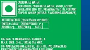 understand the label sprite coca cola