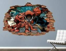Spiderman Custom Vinyl Wall Decals Peel And Stick Wallpaper Decor Ah292 Ebay