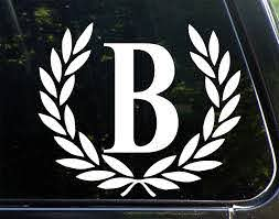 Amazon Com Sweet Tea Decals Letter B Large Size Decorative Monogram 9 X 10 Vinyl Die Cut Decal Bumper Sticker For Windows Trucks Cars Laptops Glasses Mugs Mailboxes Etc Automotive