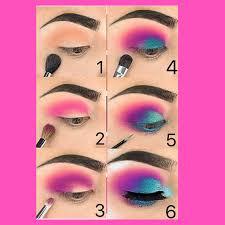colorful eye makeup look steemit
