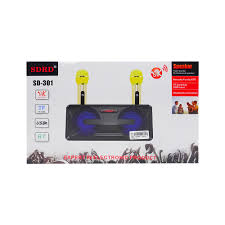 Loa Hát Karaoke SD301 Kèm 2 Mic Không Dây Giau Màu Ngẫu Nhiên - Micro Karaoke  Bluetooth Thương hiệu OEM