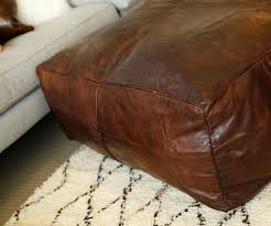 moroccan leather pouf leather ottoman