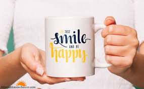 just smile coffee mug quote hd kubki z imieniem