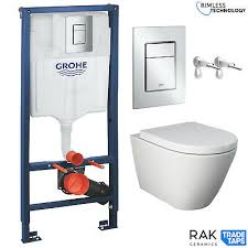 rak wall hung toilet rimless pan seat