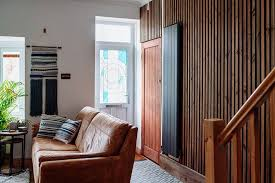 diy vertical wooden slat wall