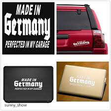 2pcs White Made In Germany Perfected In My Garage Car Wall Vinyl Bumper For Ipad Apple Laptop Sticker Cars Decal Window Tablet Xmas Gift Home Decor Stickers Wish