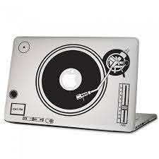 Dj Turntables Laptop Macbook Vinyl Decal Sticker