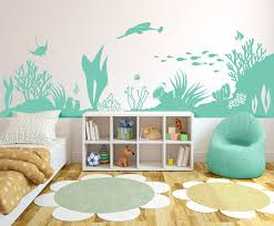 Under The Sea Coral Reef Sealife Scene Vinyl Wall Art Decal For Homes Offices Kids Rooms Nurseries Schools High Schools Colleges Universities Sea Kids Room Toddler Boy Room Themes Sea