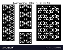 Modern Lazer Cut Panel Screen Fence Royalty Free Vector