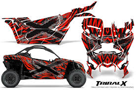 Motorcycle Atv Creatorx Can Am Renegade Graphics Kit Decals Stickers Tribalx Blue White Graphics Itrainkids Com