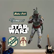 Amazon Com Fathead Boba Fett Life Size Officially Licensed Star Wars Removable Wall Decal Premium With Ancillary Home Kitchen
