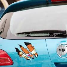 S Size Creative Funny Garfield Cartoon Tearing Claws Car Stickers Wall Decals