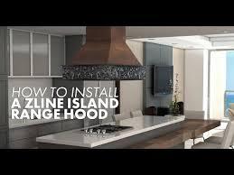 install a zline island range hood