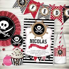 Kit Imprimible Pirata Candybar Invitacion Cumpleanos Piratas