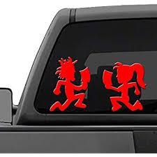Amazon Com Hatchet Man Icp Car Window Vinyl Decal Sticker 6 Tall Color White Automotive