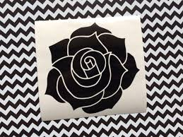 Black Rose Vinyl Decal Car Decal Laptop Decal Floral Roses Flowers Decor Decals Stickers Underdesertmoons Etsyse Car Decals Vinyl Vinyl Decals Vinyl