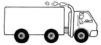 truck driver clipart black and white - Clip Art Library
