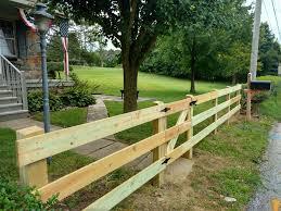 Wood Rail Fencing Snyders Custom Fencing