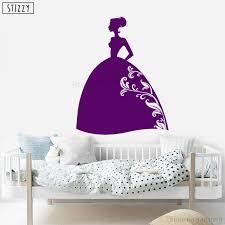Stizzy Wall Decal Cartoon Princess Fairy Silhouette Vinyl Wall Stickers For Girls Bedroom Nursery Art Mural Gift Decor Pvc B769 Wall Stickers Aliexpress