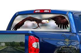 Wild Eagle Rear Window Stickers Toyota 2020 Tundra Perforated Decals