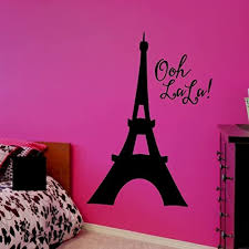 Amazon Com Eiffel Tower Wall Decal Ooh La La Decor Over 30 Colors And 5 Different Sizes To Choose From Handmade