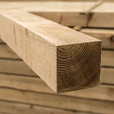 Treated Fence Posts 100mm Or 75mm Square Buy Online Uk Delivery
