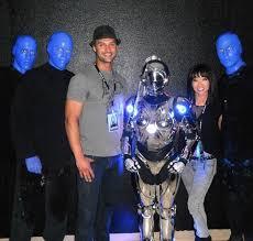 james davis spotted at blue man group
