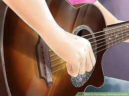 how to play happy birthday on guitar pictures wikihow