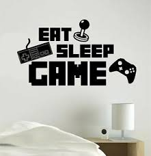 Eat Sleep Game Gaming Vinyl Decal Sticker Wall Home Decoration Call Of Duty Ebay