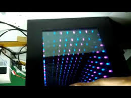 10 x 10 diy led infinity mirror cyan