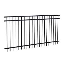 Master Halco 48 In X 96 In Majestic 3 Rail Black Fence Panel Lowe S Canada