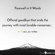 official goodbye that end quotes writings by ⚡aurabh