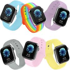 Amazon.com: Recoppa 6 Pack Sport Bands Compatible for Apple Watch 44mm 38mm  40mm 42mm for Women Men, Soft Silicon Wristband Replacement Straps for Apple  Smart Watch Series 5, 4, 3, 2, 1: Sports & Outdoors