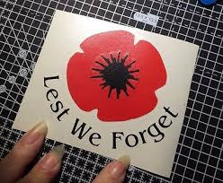 Remembrance Poppy Car Decal Sticker Small Ww2 Ww1 Lest We Forget Memorial Archives Statelegals Staradvertiser Com