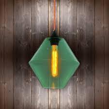 green glass pendant light glass