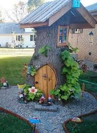 turn a tree stump into this fairy