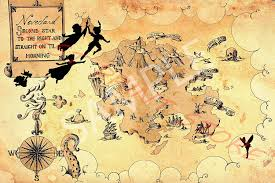 Amazon Com Best Print Store Disney Inspired Peter Pan Neverland Map Poster 13x19 Inches Posters Prints