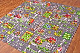 kids play village rug city road mat