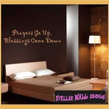 Prayers Go Up Blessing Come Down Wall Quote Mural Decal Swd