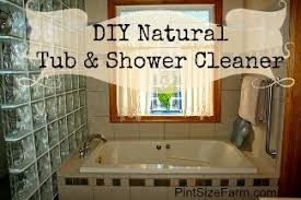 diy homemade natural tub and shower