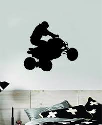 Atv Quad 4 Wheeler Sports Decal Sticker Bedroom Room Wall Vinyl Art Ho Boop Decals